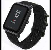 Xiaomi Amazfit Bip nylon gesp band (zwart)