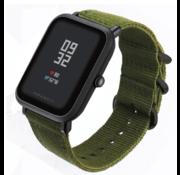 Strap-it® Xiaomi Amazfit Bip nylon gesp band (groen)