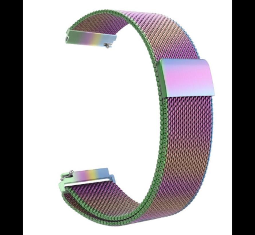 Strap-it® Xiaomi Amazfit GTS Milanese band (regenboog)