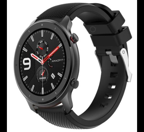 Strap-it® Strap-it® Xiaomi Amazfit GTR silicone band (zwart)