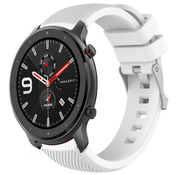Strap-it® Xiaomi Amazfit GTR silicone band (wit)
