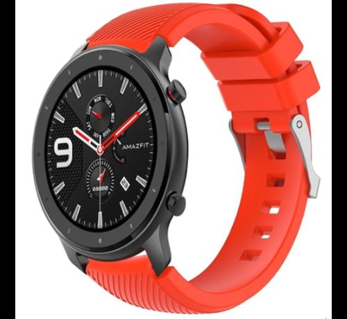 Strap-it® Strap-it® Xiaomi Amazfit GTR silicone band (rood)
