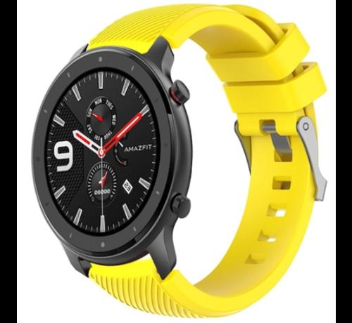 Strap-it® Strap-it® Xiaomi Amazfit GTR silicone band (geel)