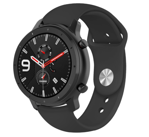 Strap-it® Strap-it® Xiaomi Amazfit GTR sport band (zwart)