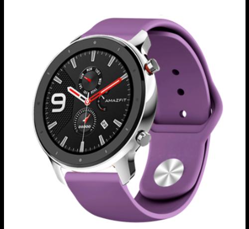 Strap-it® Strap-it® Xiaomi Amazfit GTR sport band (paars)
