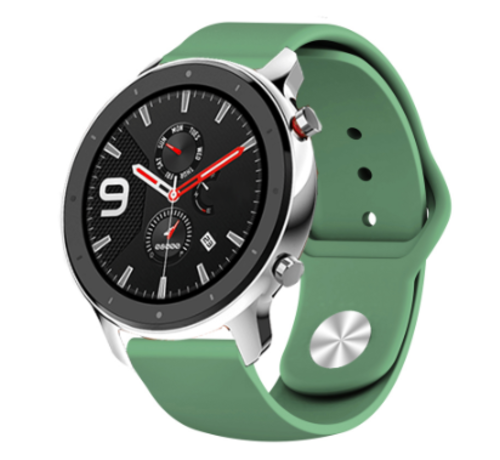 Strap-it® Strap-it® Xiaomi Amazfit GTR sport band (legergroen)