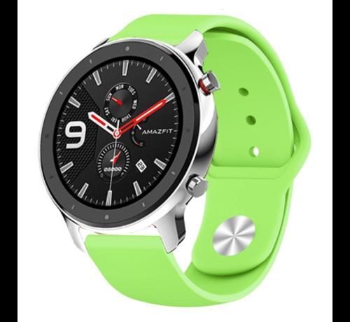 Strap-it® Strap-it® Xiaomi Amazfit GTR sport band (lichtgroen)