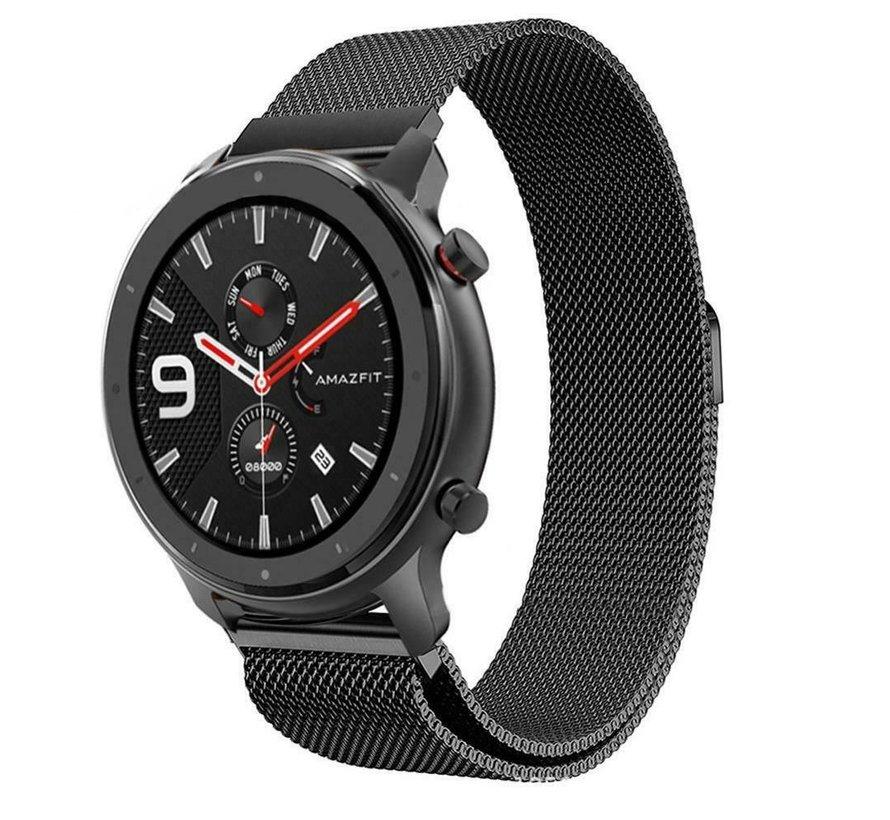 Strap-it® Xiaomi Amazfit GTR Milanese band (zwart)
