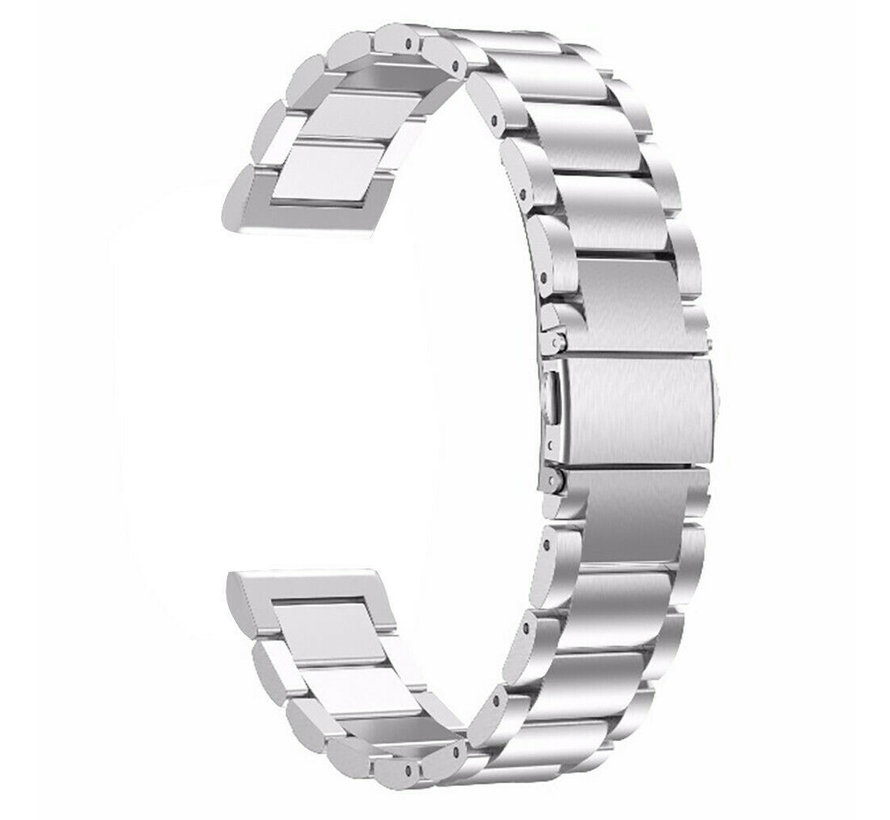 Strap-it® Xiaomi Amazfit GTR stalen band (zilver)