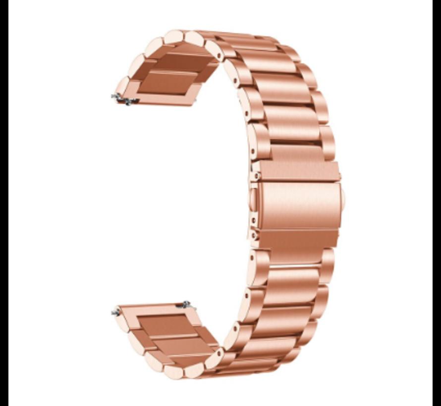 Strap-it® Xiaomi Amazfit GTR stalen band (rosé goud)