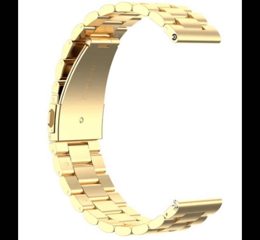 Strap-it® Xiaomi Amazfit GTR stalen band (goud)