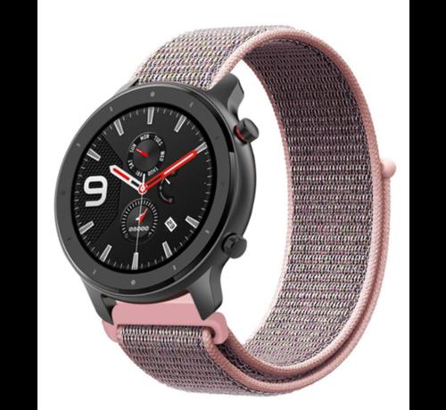 Strap-it® Strap-it® Xiaomi Amazfit GTR nylon band (pink sand)