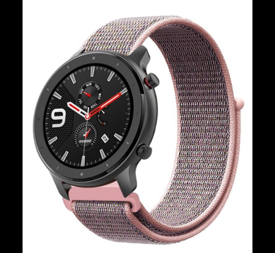 Strap-it® Xiaomi Amazfit GTR nylon band (pink sand)