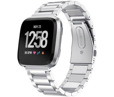 Strap-it® Strap-it® Fitbit Versa stalen bandje (zilver)
