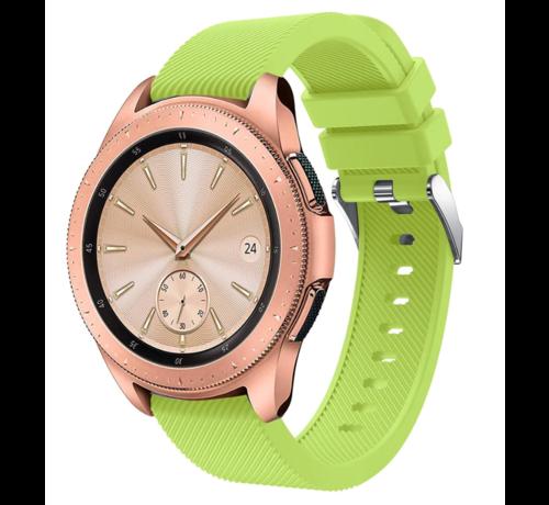 Strap-it® Strap-it® Samsung Galaxy Watch siliconen bandje 41mm / 42mm (lichtgroen)