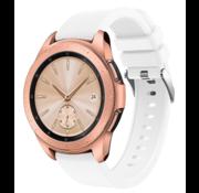 Strap-it® Samsung Galaxy Watch siliconen bandje 41mm / 42mm (wit)