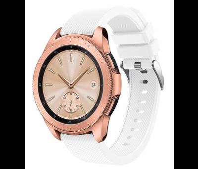 Samsung Galaxy Watch siliconen bandje 41mm / 42mm (wit)