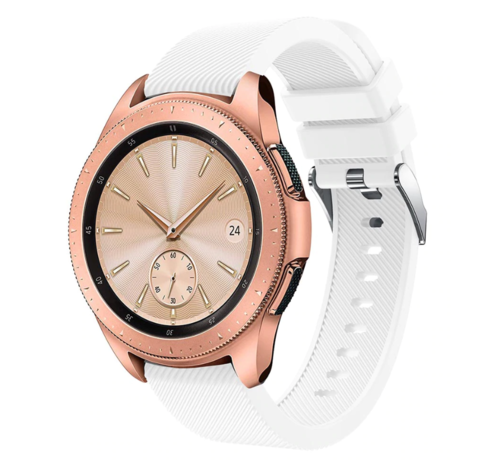 Strap-it® Strap-it® Samsung Galaxy Watch siliconen bandje 41mm / 42mm (wit)