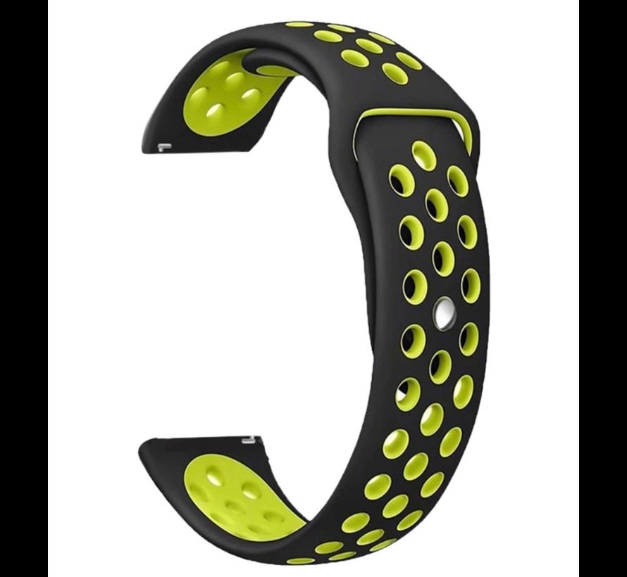 Strap-it® Xiaomi Amazfit GTS sport band (zwart/geel)