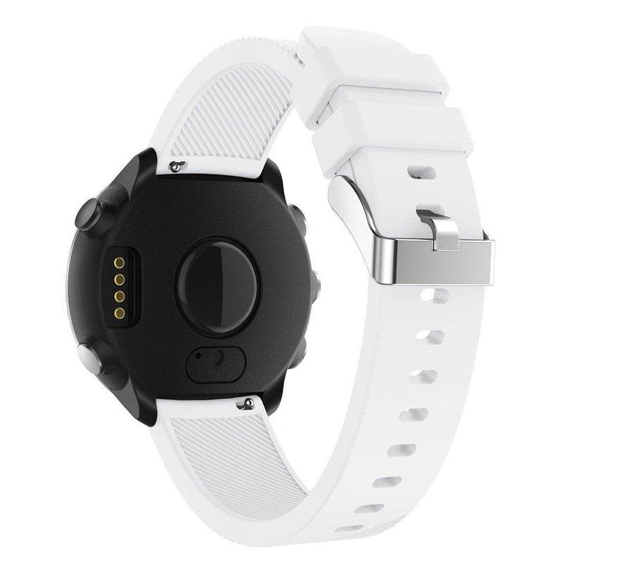 Strap-it® Garmin Vivoactive 4 silicone band - 45mm - wit
