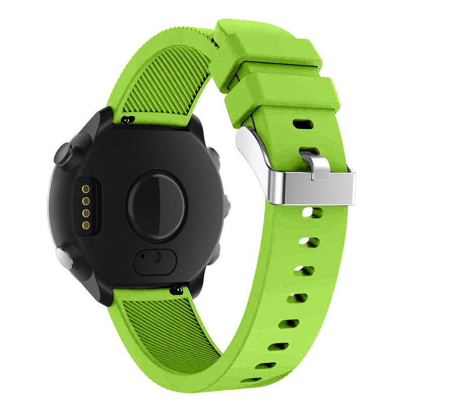 Strap-it® Garmin Vivoactive 4 silicone band - 45mm - lichtgroen