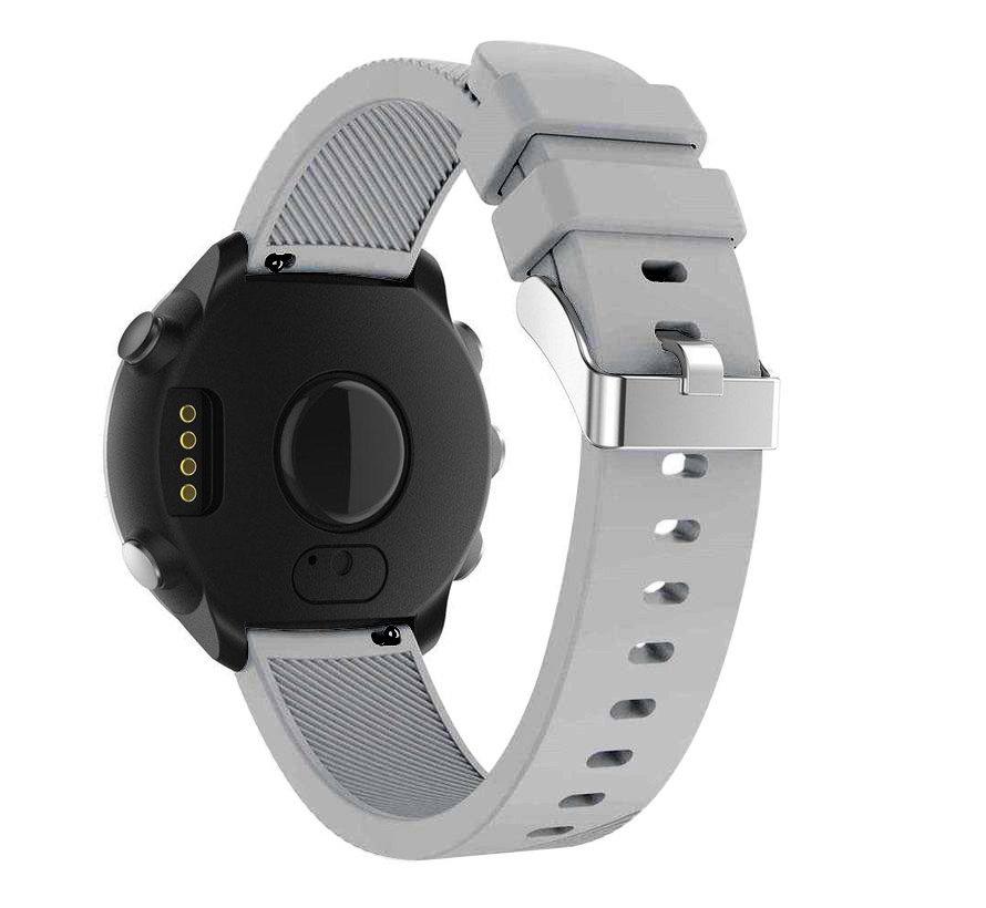 Strap-it® Garmin Vivoactive 4 silicone band - 45mm - grijs