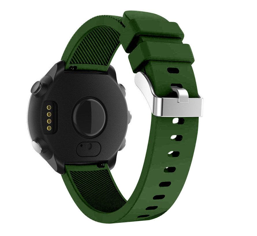 Strap-it® Garmin Vivoactive 4 silicone band - 45mm - legergroen