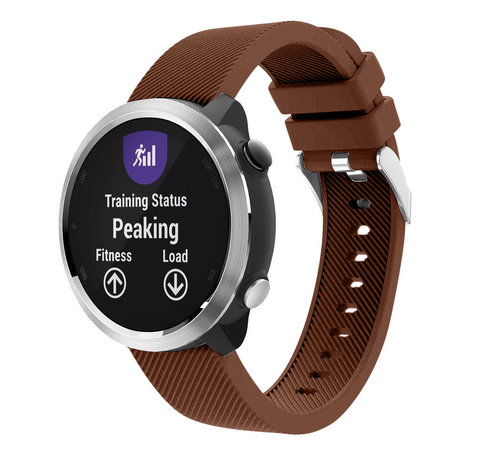 Strap-it® Strap-it® Garmin Vivoactive 4 silicone band - 45mm - koffiebruin