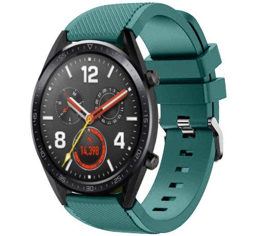 Strap-it® Strap-it® Huawei Watch GT siliconen bandje (dennengroen)