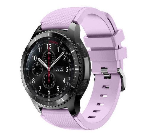 Strap-it® Strap-it® Samsung Galaxy Watch siliconen bandje 45mm / 46mm (lila)