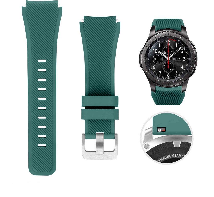 Strap-it® Samsung Galaxy Watch siliconen bandje 45mm / 46mm (dennengroen)