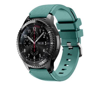 Strap-it® Strap-it® Samsung Galaxy Watch siliconen bandje 45mm / 46mm (dennengroen)