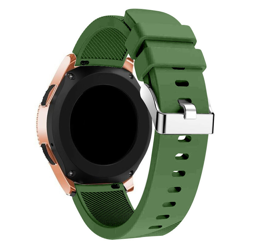 Strap-it® Samsung Galaxy Watch siliconen bandje 41mm / 42mm (legergroen)