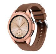 Strap-it® Samsung Galaxy Watch siliconen bandje 41mm / 42mm (koffiebruin)