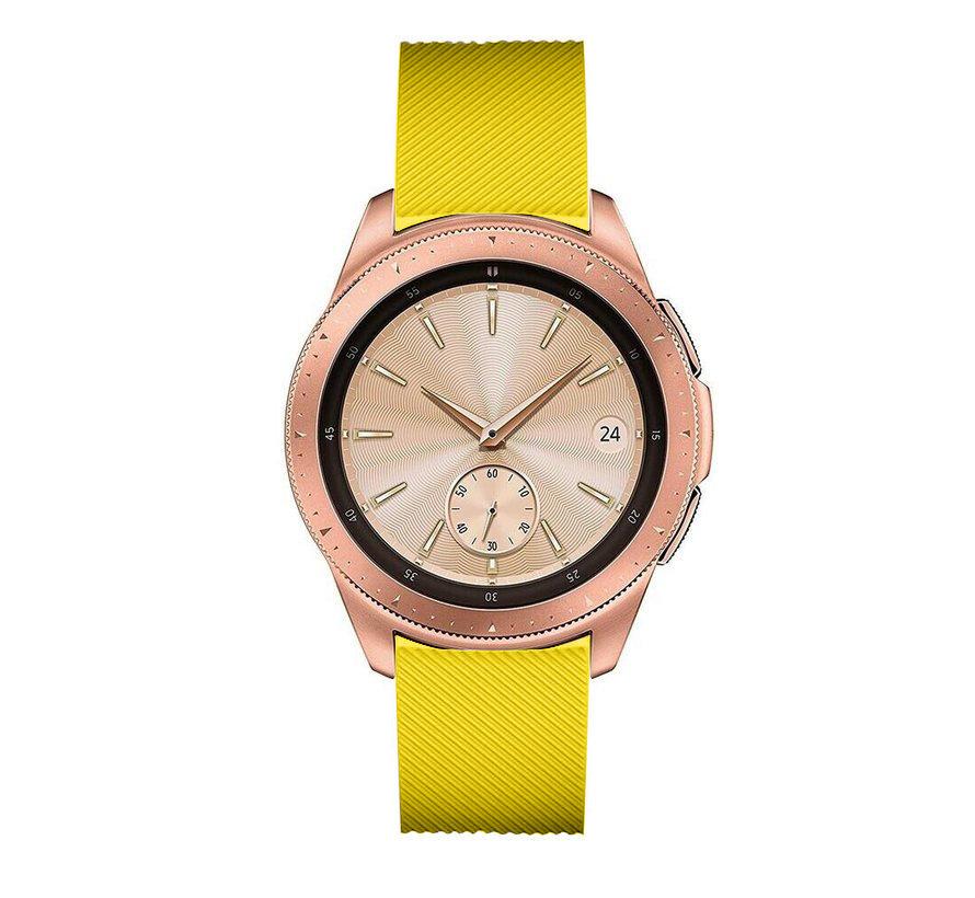 Strap-it® Samsung Galaxy Watch siliconen bandje 41mm / 42mm (geel)