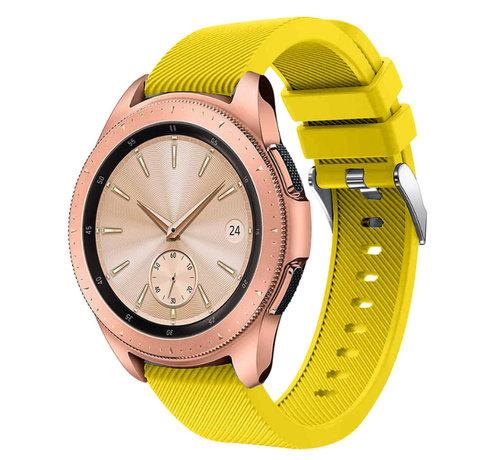 Strap-it® Strap-it® Samsung Galaxy Watch siliconen bandje 41mm / 42mm (geel)