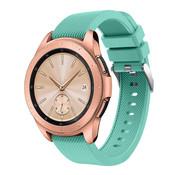 Strap-it® Samsung Galaxy Watch siliconen bandje 41mm / 42mm (aqua)