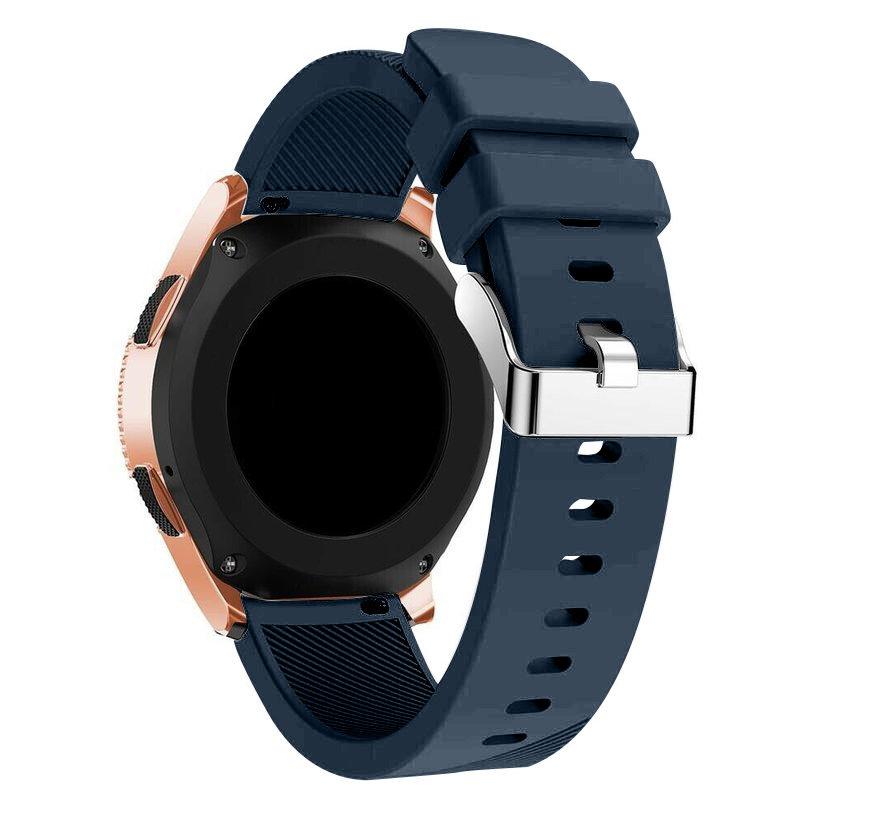 Strap-it® Samsung Galaxy Watch siliconen bandje 41mm / 42mm (donkerblauw)