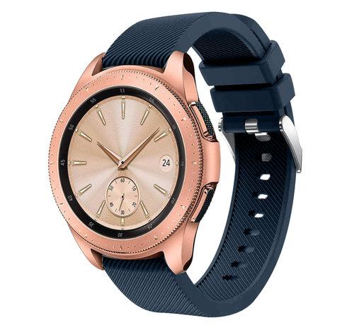 Strap-it® Strap-it® Samsung Galaxy Watch siliconen bandje 41mm / 42mm (donkerblauw)