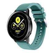 Samsung Galaxy Watch Active silicone band (dennengroen)