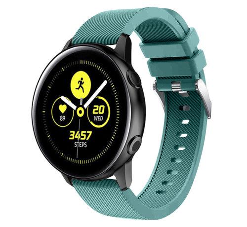 Strap-it® Strap-it® Samsung Galaxy Watch Active silicone band (dennengroen)