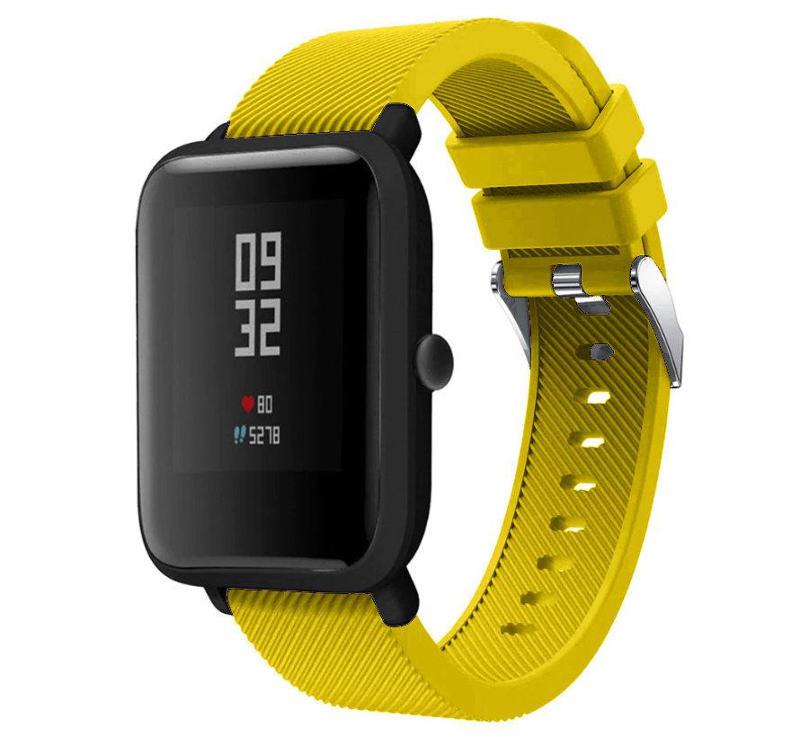 Strap-it® Xiaomi Amazfit Bip silicone band (geel)