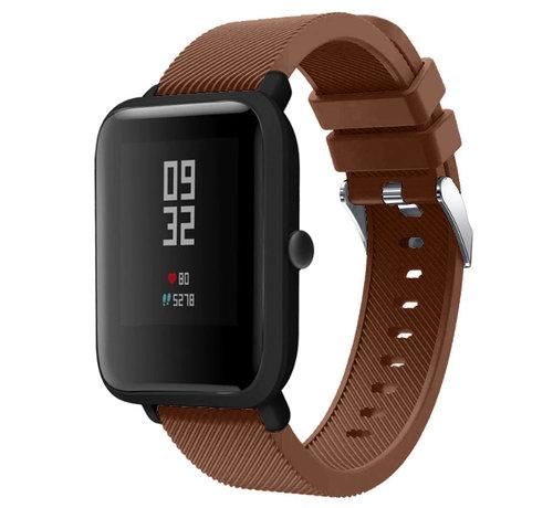 Strap-it® Strap-it® Xiaomi Amazfit Bip silicone band (koffiebruin)