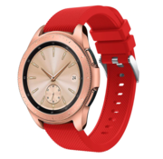 Strap-it® Samsung Galaxy Watch siliconen bandje 41mm / 42mm (rood)