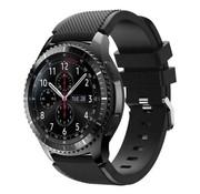 Samsung Galaxy Watch siliconen bandje 45mm / 46mm (zwart)