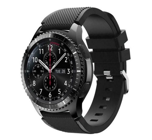 Strap-it® Strap-it® Samsung Galaxy Watch siliconen bandje  45mm / 46mm (zwart)