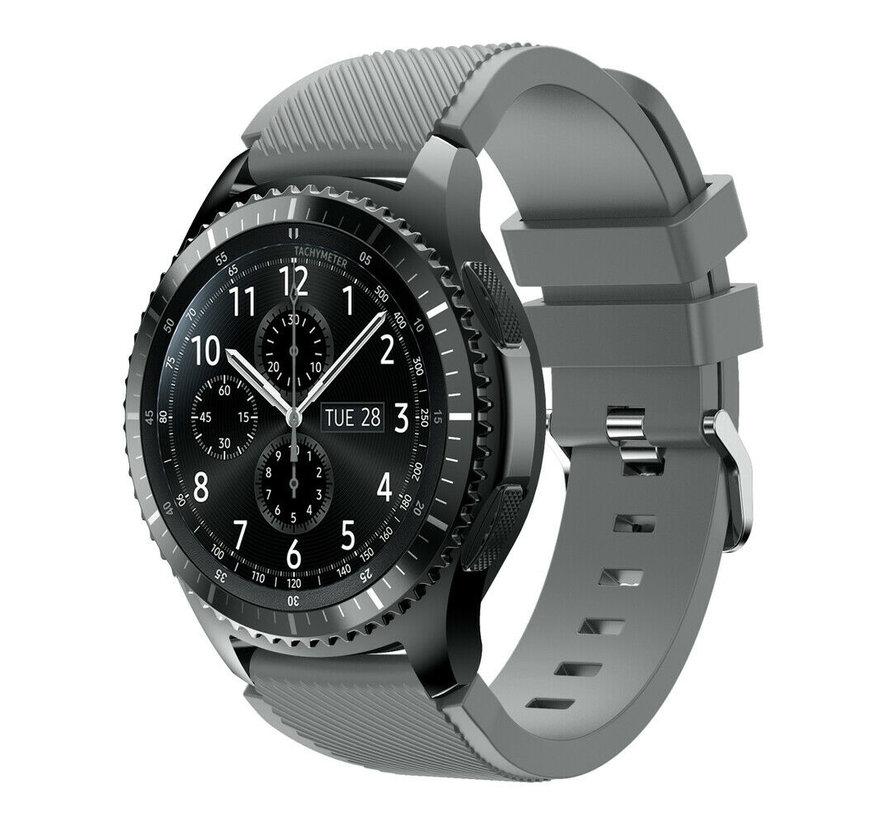 Strap-it® Samsung Galaxy Watch siliconen bandje 45mm / 46mm (grijs)