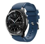 Strap-it® Samsung Galaxy Watch siliconen bandje 45mm / 46mm (donkerblauw)