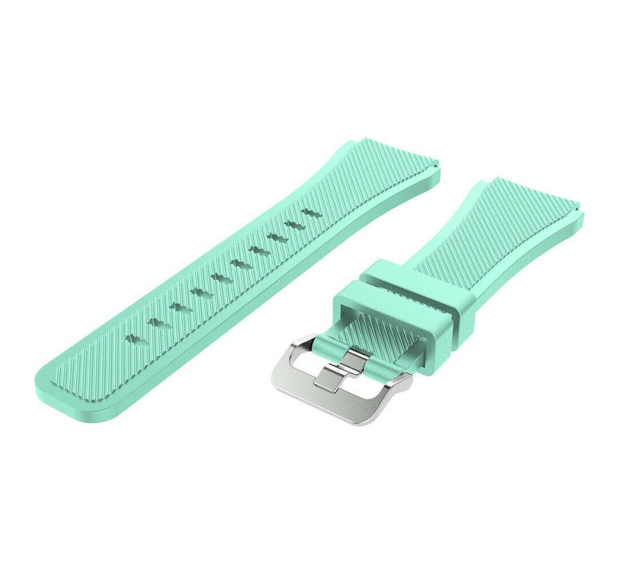 Strap-it® Samsung Galaxy Watch siliconen bandje 45mm / 46mm (aqua)