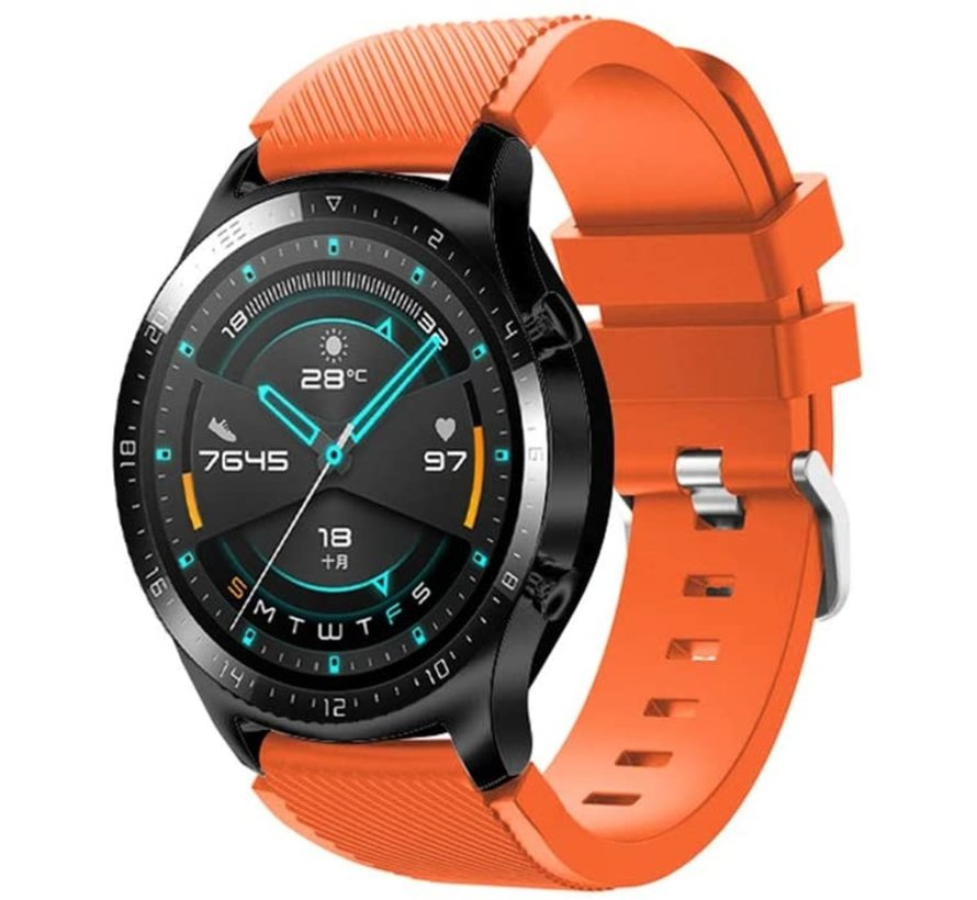 Strap-it® Huawei Watch GT siliconen bandje (oranje)